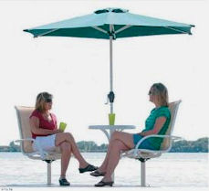 Dock Umbrella and Chairs for Docks and Piers