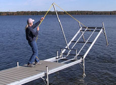Dock Extraction Mast, Dock Removal Mast